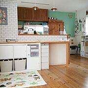 カジタノ/西松屋/壁紙/こどものもの/おもちゃ収納/12坪…などのインテリア実例