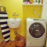 エコストア/洗濯機周り/ランドリールーム/イエロー/Bathroom…などのインテリア実例