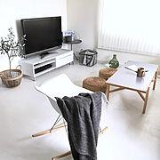 床DIY/ニトリ/リビング/ナチュラル/ウォーターヒヤシンス/DIY…などのインテリア実例