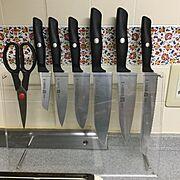 ナイフ収納/Kitchen/DIY/キッチン収納…などのインテリア実例