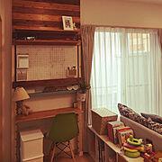 ダイソー/ディアウォール DIY/DIY/観葉植物/スタンドランプ/子供と暮らす…などのインテリア実例