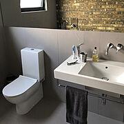 シンプルな暮らし/丁寧な暮らし/海外インテリア/トイレ/Bathroom…などのインテリア実例