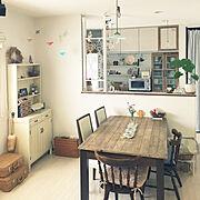 クッションレンガシート/かご好き♡/アイアンフェンス/ハンドメイド/オーキタ家具…などのインテリア実例
