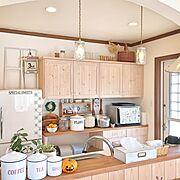 アール壁/ペンダントライト/キャニスター/ブルックリンジャー/キッチン/Kitchen…などのインテリア実例