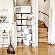 断捨離/棕櫚のほうき/マーチソンヒューム/大掃除/My Shelf…などのインテリア実例