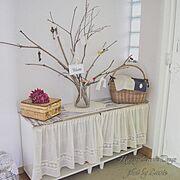 木の枝が似合うお家にしたいのインテリア実例写真