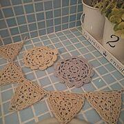 greenappleちゃん☆/greenappleちゃんの編み編み…などのインテリア実例