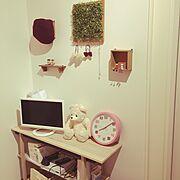 フェイクグリーン/ナチュラル/子供部屋/My Shelf…などのインテリア実例