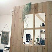 いなざうるす屋さん/DIYで作ったお部屋/いなざうるやさんのフェイクグリーン/いなざうるす屋…などのインテリア実例