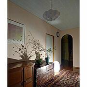 みずき団子/小正月/しっくい壁DIY/古さを生かす/セルフリフォームした玄関/セルフリノベ…などのインテリア実例