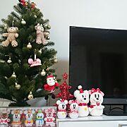 クリスマスツリー/フランフラン/ディズニー/ディズニー雪だるま/ディズニーオーナメント/クリスマス…などのインテリア実例