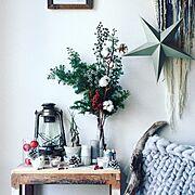 Bedroom/スターリンジア/チランジア/ドライフラワー/weaving/バラの実ドライ…などのインテリア実例