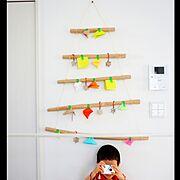 On Walls/ハンドメイド/自作/クリスマスツリー…などのインテリア実例