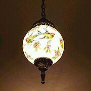 フランスアンティーク/ペンダントライト/花鳥/シノワズリ/オリエンタル/照明…などのインテリア実例