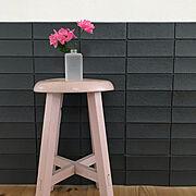 椅子/ピンク/スツール/アンティークスツール/On Walls…などのインテリア実例