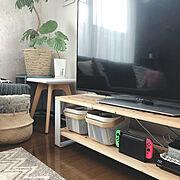 ニトリのラグ/ニトリ/IKEA/IKEAカタログ2019/RISATORP リーサトルプ/テレビ台DIY…などのインテリア実例