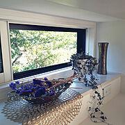 Kitchen/フラワーベース/チルウィッチ/窓/光り物/ゴールドアイテム…などのインテリア実例