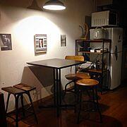 スツール/カフェ風/a.flat/TOLEDO/賃貸/メンズ部屋…などのインテリア実例