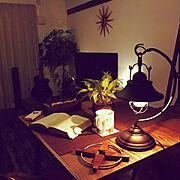 アンティーク/雑貨/照明/男前/カフェ風/一人暮らし…などのインテリア実例