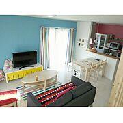 IKEAがたくさん♪/IKEA/ということで3年前の pic。/お家が三周年をむかえました。/カラフルな部屋…などのインテリア実例