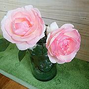秋晴れ/最後まで愛する/ピエールドゥロンサール/薔薇/ドライ/kimiさんからの素敵ビン…などのインテリア実例