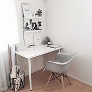 モダンデコ/My Desk/デザインレターズ/DESIGNLETTERS/マイホーム…などのインテリア実例