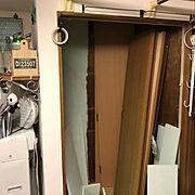 うちの家事室/ゴチャまぜインテリア/どこ見てもほっこりし隊/TUKURIBAmyway/石橋は壊れていても渡る会…などのインテリア実例