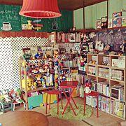 本と暮らす。/家族の本/IKEA/イケア/DIY/ぬいぐるみ…などのインテリア実例
