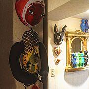 ナタリーレテ/パリの恋人たちのアパルトマン/おたくコレクション/大人可愛いインテリア♡/コレクターズアイテム…などのインテリア実例