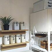 IKEA/ニトリ/山善/スチールラック/キャンドゥ/壁に付けられる家具…などのインテリア実例