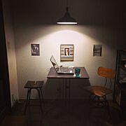 カフェ風/一人暮らし/メンズ部屋/賃貸/My Desk…などのインテリア実例