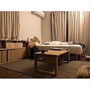 1R/夜/一人暮らし/Lounge…などのインテリア実例
