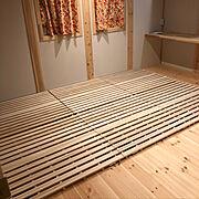 すのこベッド 折りたたみのインテリア実例写真