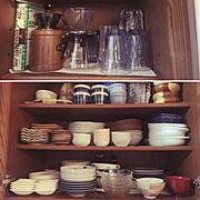 食器収納のインテリア実例写真