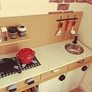 ままごとキッチンのインテリア実例写真