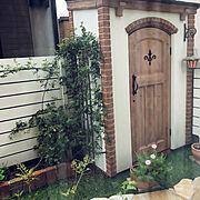 Bedroom/2019.3.22/花のある暮らし/小屋/フェンス/乱形石…などのインテリア実例