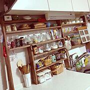 課題だらけ/カフェっぽくしたい/DIY/Kitchen…などのインテリア実例