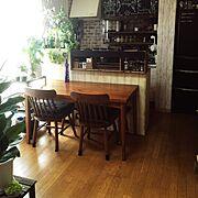 壁紙屋本舗/アンティーク/ドライフラワー/カフェ風/green/観葉植物…などのインテリア実例