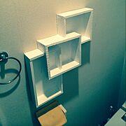 収納/ハンドメイド/廃材/Bathroom…などのインテリア実例