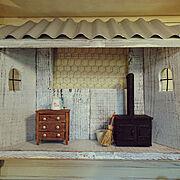 木工雑貨/妄想の世界/蒔きストーブのある部屋/ミニチュア雑貨/On Walls…などのインテリア実例