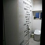 トイレの神様♪*゚/ステンシル/板壁/Bathroom…などのインテリア実例