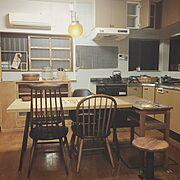 オークション/セカンドハウス/椅子/窓枠/ダイニング/adepeche…などのインテリア実例