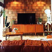 ビィンテージ/さる/工務店/無垢の床/アイランドキッチン/ブルックリンスタイル…などのインテリア実例