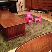 アメリカンビンテージ家具/アメリカンビンテージ/100均/Lounge…などのインテリア実例