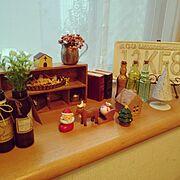 リメイク瓶/セリア/いなざうるす屋さん/Lounge…などのインテリア実例