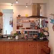 飾り棚/フック/室内グリーン/NO GREEN NO LIFE/グリーンのある暮らし/古道具…などのインテリア実例