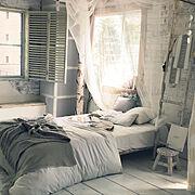 レース/素敵インテリア/ライフスタジオ写真/家じゃないです/Bedroom…などのインテリア実例