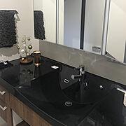 Panasonic/洗面所/ニトリ/SABONのキャンドル/独立洗面台/Bathroom…などのインテリア実例