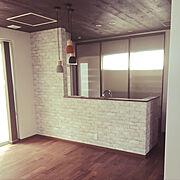 照明/カフェ風/土屋ホーム/無垢材/無垢材の床/ブラックウォールナット…などのインテリア実例