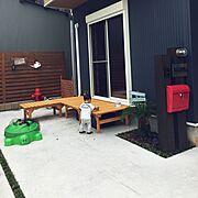 コーナンのベンチのインテリア実例写真